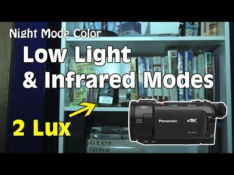 Panasonic HC-WXF1: Low Light & INFRARED to Zero Lux in TOTAL Darkness