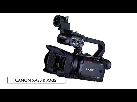 Canon XA30 and XA35 Compact Professional Camcorders: First Look
