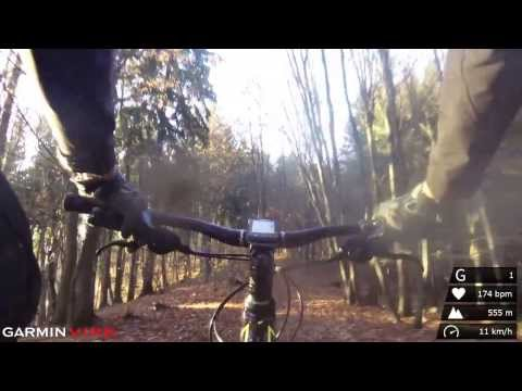 Garmin VIRB Elite - bike trail with additional data