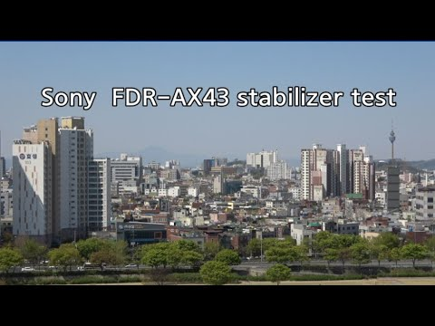SONY FDR-AX43 stabilizer test