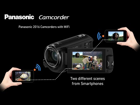 Panasonic 2016 Wireless Multi Camera Feature on Panasonic Camcorders