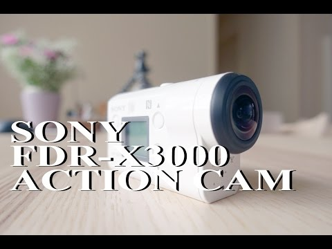SONY FDR-X3000 4K Action Cam UNBOXING and Tips