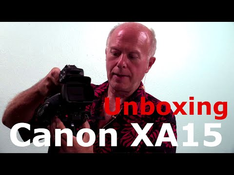 Canon XA15 Unboxing and Setup to Stream