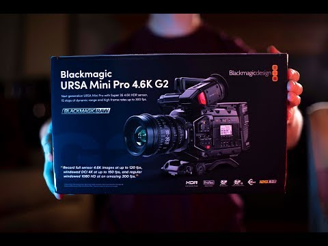 Blackmagic Ursa Mini Pro 4.6k G2 - Unboxing