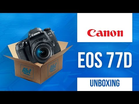 Unboxing: Canon EOS 77D DSLR Camera