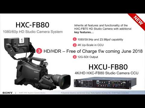 NAB Show New York: HXC-FB80 HD Studio Camera System