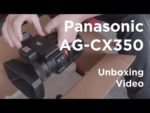 Panasonic AG-CX350 Unboxing (in 4K)