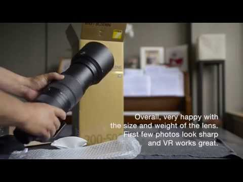 Quick Unboxing and First Impression of Nikon 200-500mm f/5.6E ED VR AF-S NIKKOR Zoom Lens