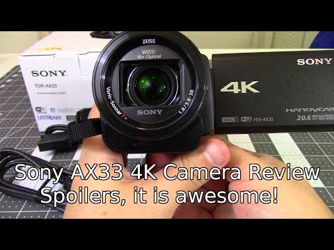 Sony FDR-AX33 4K Camera - New camera specs and review!