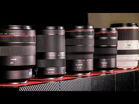 5 NEW PRO Canon RF LENSES | RF 85 f1.2L, RF 85 f1.2L DS, RF 24-70 F2.8L IS, RF 70-200 2.8L IS