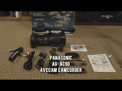 Pansonic AG-AC90 Camera Camcorder Unboxing and First Look