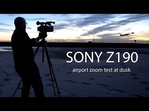 SONY Z190 - airport zoom test at dusk