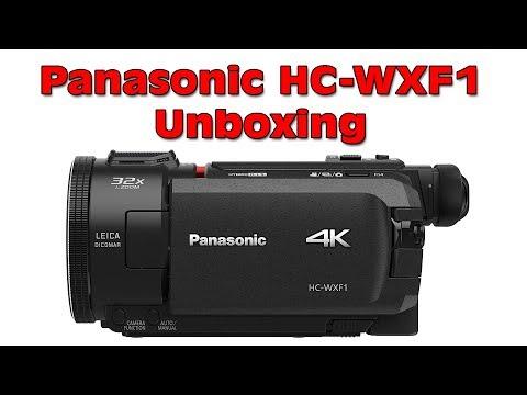 New Panasonic HC WXF1 4K Ultra HD Camcorder Unboxing