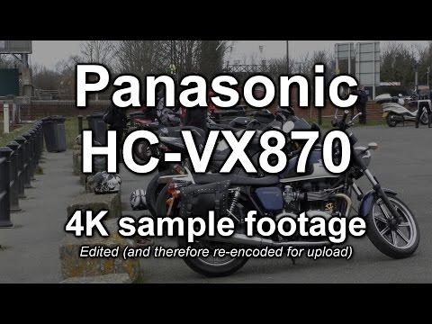 Panasonic HC-VX870 (WX970) camcorder: edited 4K footage