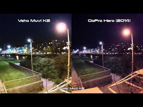 Veho Muvi K2 vs GoPro Hero 2014 Night / Low Light Sample Test