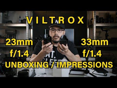 Viltrox 23mm and 33mm f/1.4 for FujiFilm X-Mount Unboxing - First Impressions (Fujifilm x-t4)