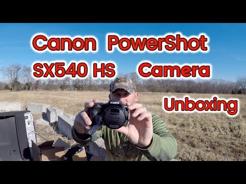 Canon Powershot SX540 HS Digital Camera Unboxing