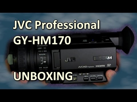 JVC GY-HM170 (GY-HM200) unboxing & first look