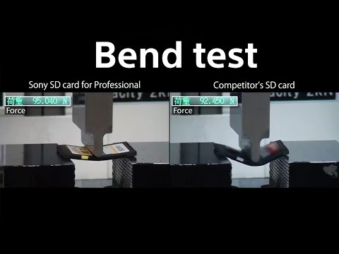 Sony Professional SD Card : Bend Test