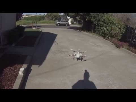 1st flight Star wars X-Wing converted into Quadcopter