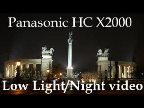 Panasonic HC X2000 - Low light video test - 4K