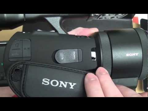Sony NEX-VG30 Unboxing