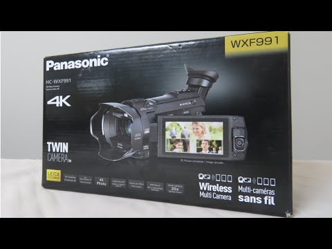 Unboxing the Panasonic HC WXF991 Video Camera