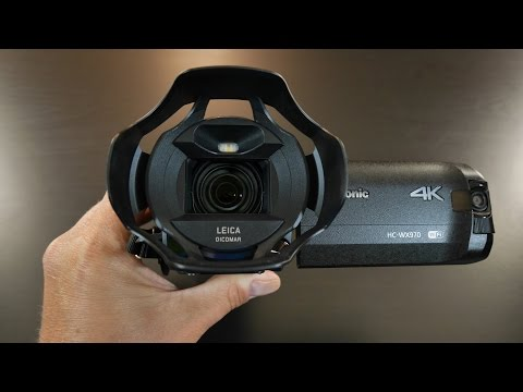 Panasonic HC-WX970 4K Ultra HD Camcorder with Built-in Twin Video Camera Unboxing