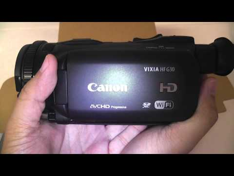 Canon Vixia HF G30 Unboxing