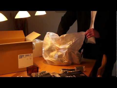 Sony PMW-200 unboxing, auspacken