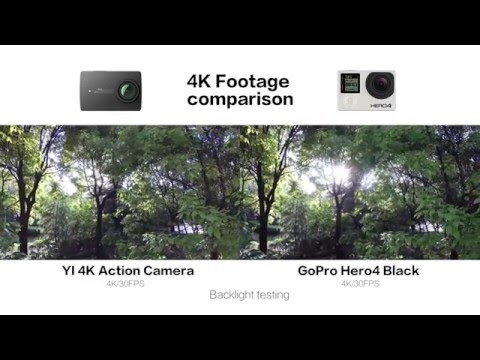 Raw footage 4K & 1080P120FPS Comparison: YI 4K Action Camera VS GOPRO HERO4 BLACK