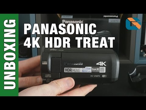 Panasonic VX870 Unboxing & First Look - HC-VX870