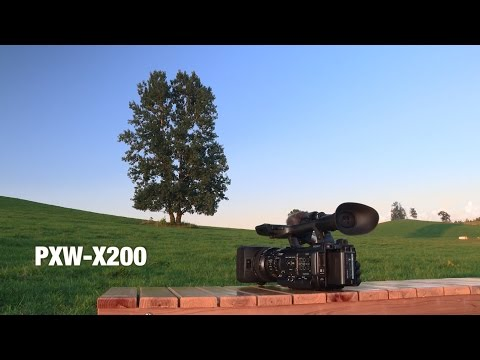 XDCAM camcorder PXW-X200 footage
