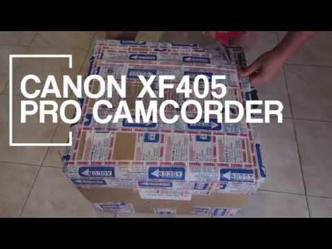 Unboxing Canon XF405 Professional Camcorder ( in ciabatte :D )