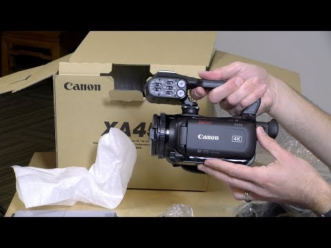 Canon XA45 / XA40 Unboxing and First Impressions