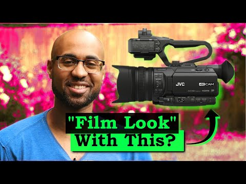 Can you use a video camcorder to make a cinematic film?