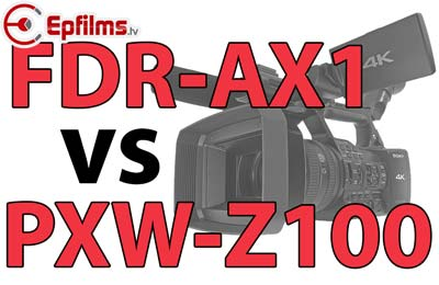 PXW-Z100 VS FDR-AX1Difference