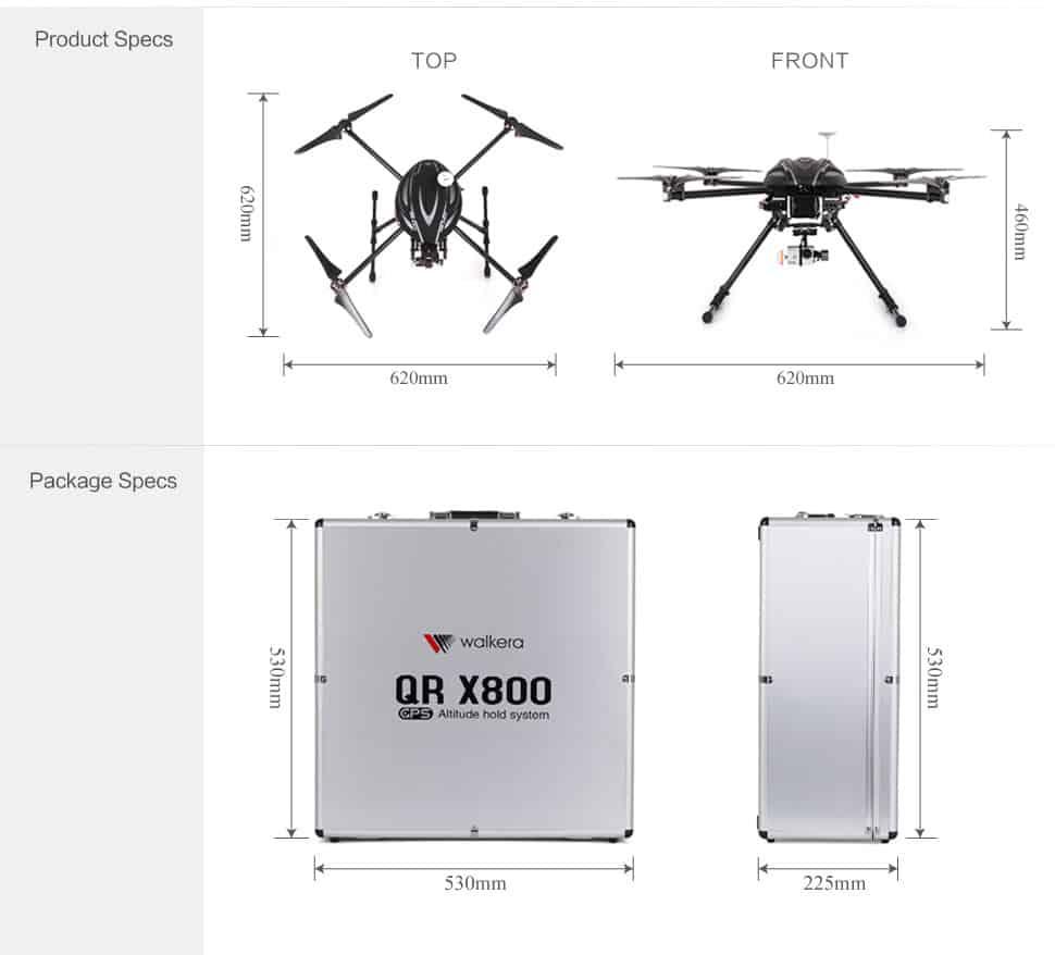 Aerial quadcopter QR800