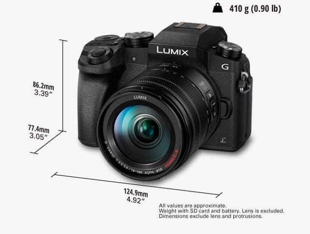 Lumix DMC-G7 specs