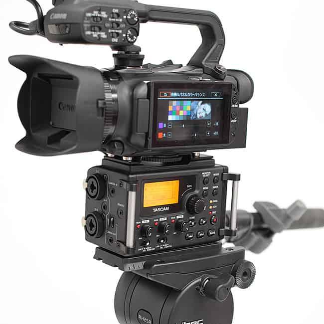 ビデオ三脚に対してカメラ(キヤノンXA20)が軽すぎ