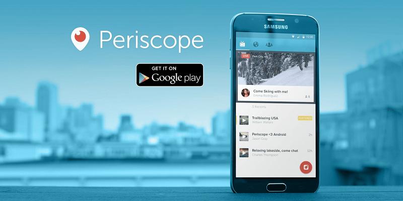 Periscope, smartphone app