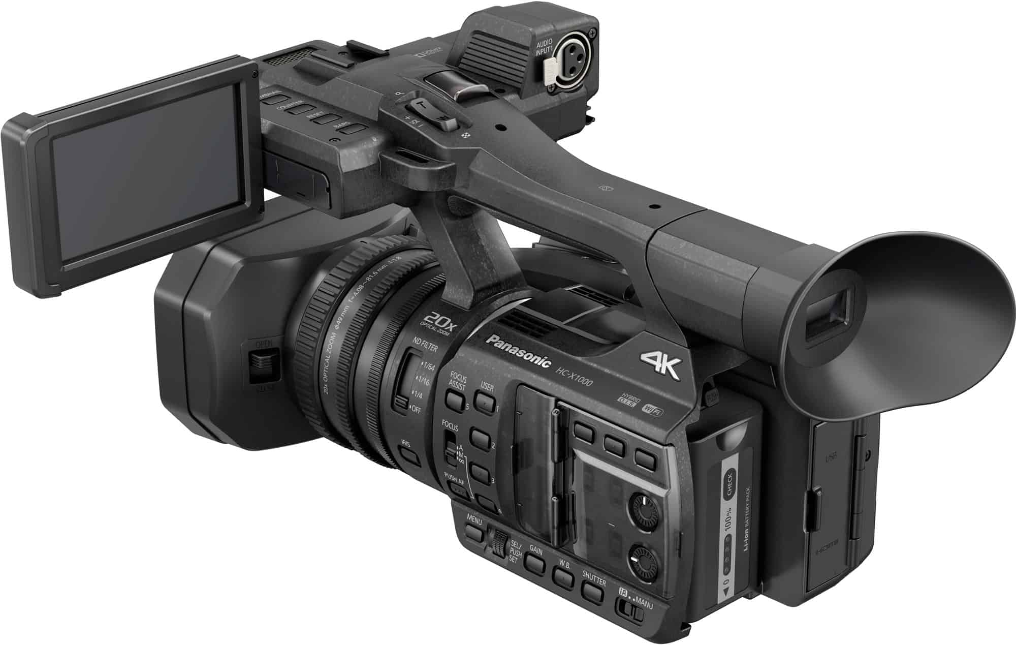 First Look: New Panasonic HC-X1000 4K Camcorder, Packed with