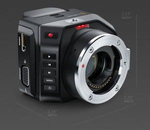 Blackmagic Micro Cinema Camera, Micro Four Thirds, digital film camera