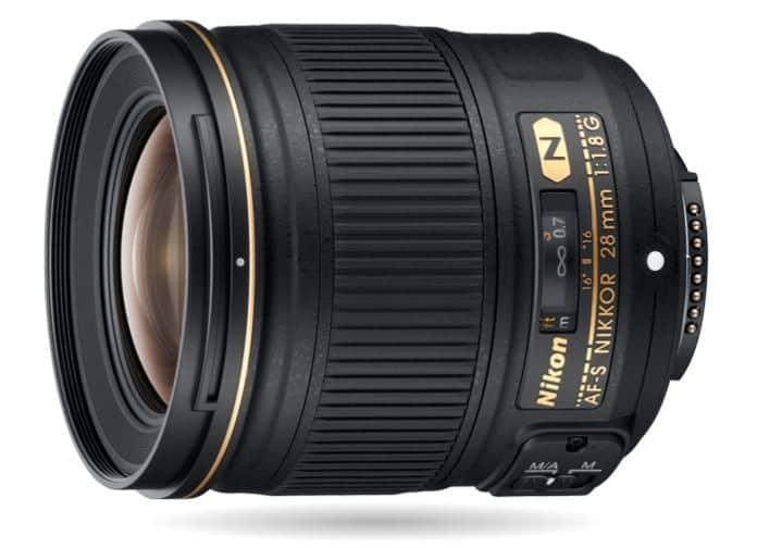 Camera lens, Nikon lens, AF-S NIKKOR 28mm f 1.8G