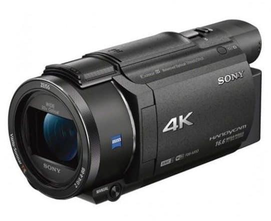 Sony AX53, 4K handycam, Sony 4K camera