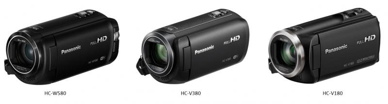 HC-W580, HC-V380, HC-V180, Panasonic Full HD camcorders,