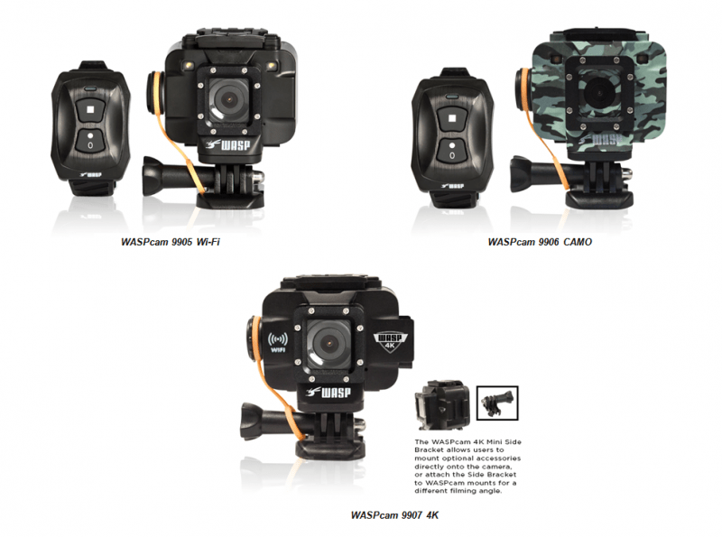 WASPcam 9905 Wi-Fi, WASPcam 9906 CAMO, WASPcam 9907 4K, WASPcam, 4K action camera, action cameras, sports cameras