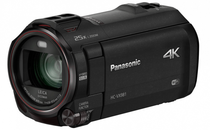 HC-VX981 4K, Panasonic 4K camcorders, 4K video cameras