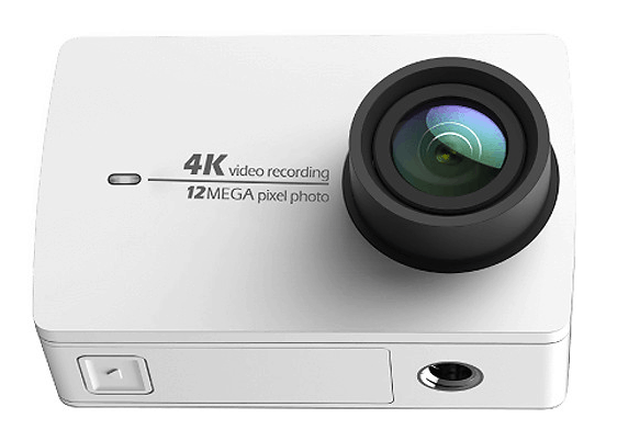 action camera, Yi 4K action camera white, Yi 4K action camera review