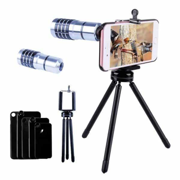 Telephoto lens, iphone lens, camera lens tripod